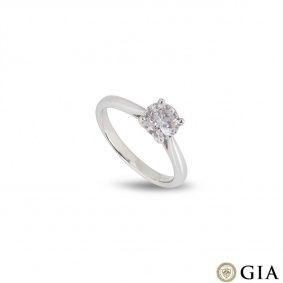White Gold Light Pink Diamond Ring 1.09ct